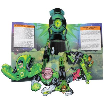 dc super heroes pop up book page