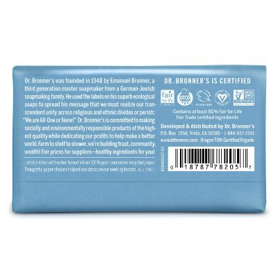 dr. bronner's baby soap pure-castile back