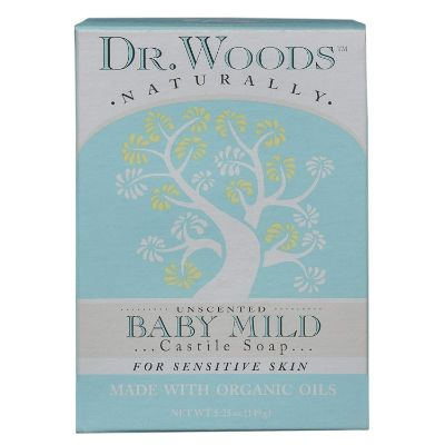dr. woods organic baby soap box