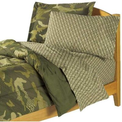 dream factory geo camo army kids bedding pillow