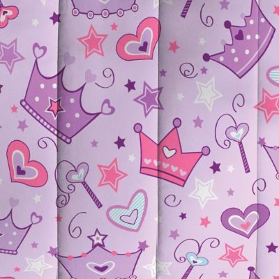 Dream Factory Purple Princess Hearts best kids bedding pattern