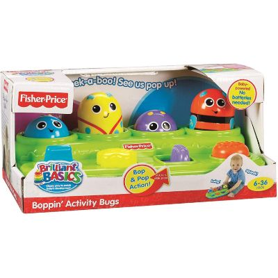 fisher-price brilliant basics boppin' activity bugs box