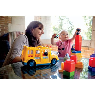 fisher-price little people lil' movers school bus family