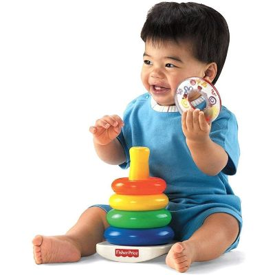 fisher-price rock-a-stack and baby's 1st blocks bundle infant