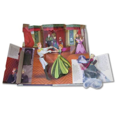 frozen pop up book page