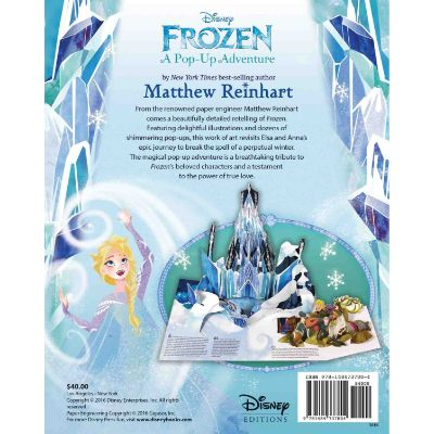 frozen pop up book back