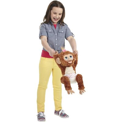 cuddles giggly monkey furreal friends kid playing
