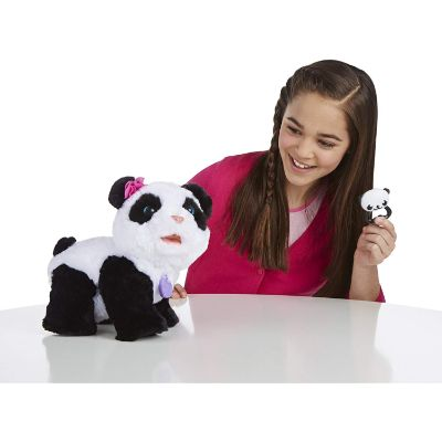 pom pom baby panda furreal friend kid playing