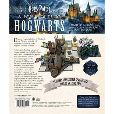 harry potter guide to hogwarts pop up book back