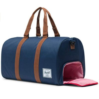 herschel duffel hospital bag external pocket
