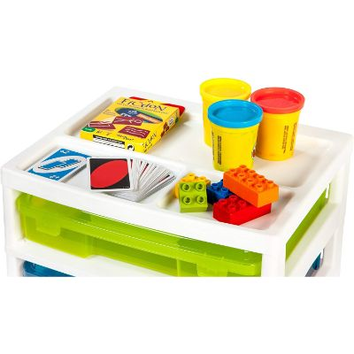 iris 6-case activity chest lego storage container top