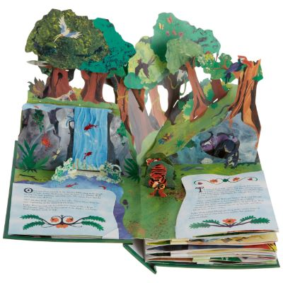 the jungle pop up book page