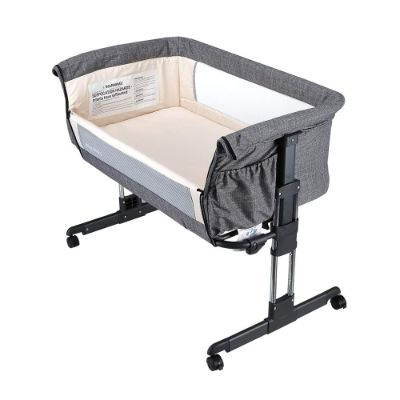 miclassic easy folding portable cribs side down