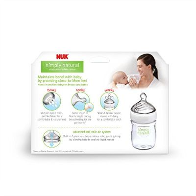 nuk simply natural preemie baby bottle features