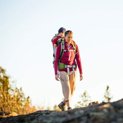 osprey poco AG plus baby carrier for hiking mom