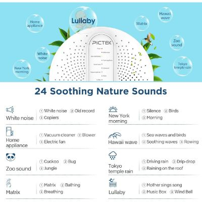 Pictek White Noise Best Sleep Sound Machines soothing sounds