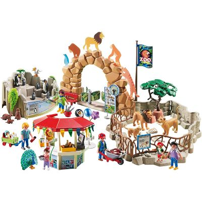 playmobil large city zoo pieces
