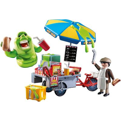playmobil ghostbusters slimer hot dog stand design
