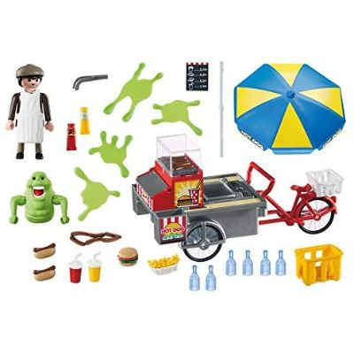 playmobil ghostbusters slimer hot dog stand pieces
