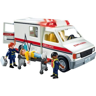 playmobil rescue ambulance and figures
