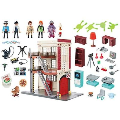 playmobil ghostbusters firehouse pieces