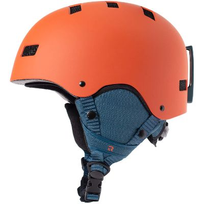 retrospec traverse H1 kids ski helmet orange