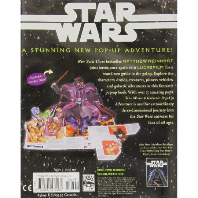 star wars galactic adventure pop-up book back