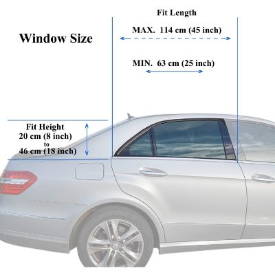 TFY universal car window shade for baby dimensions