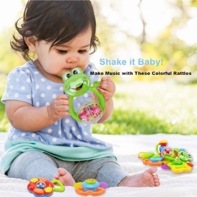 3 Month Old Toys Wishtime Rattle Teether Shake It