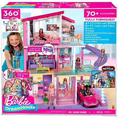 barbie dreamhouse dollhouse box