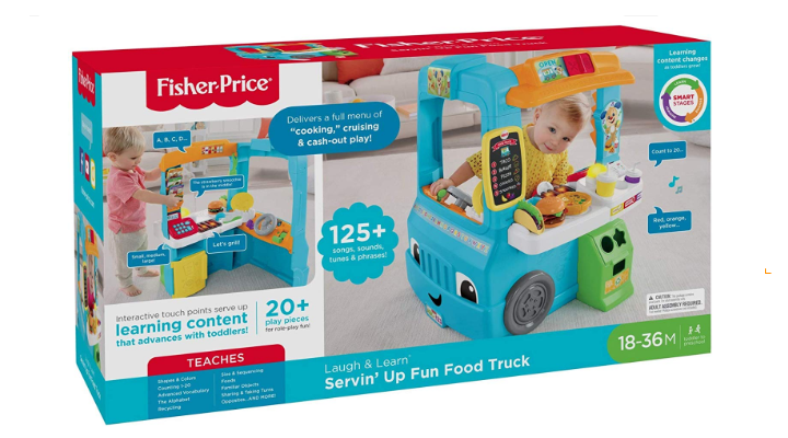 Fisher Price Laugh & Learn Servin' Up Fun Food Truck packaging