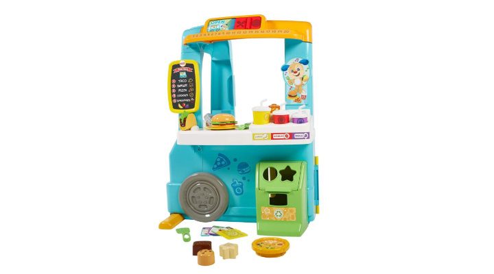 Fisher Price Laugh & Learn Servin' Up Fun Food Truck side view