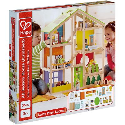 hape all seasons dollhouse box