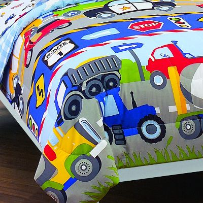 dream factory trucks tractors kids' bedding corner