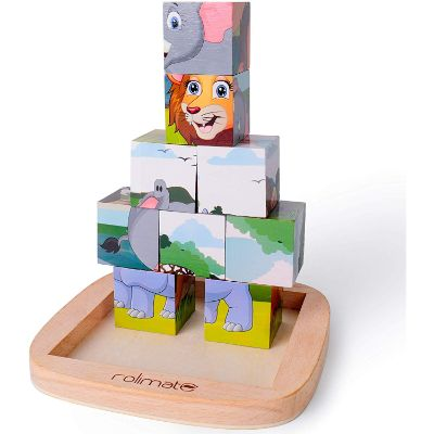 rolimate jigsaw educational wooden puzzle pieces