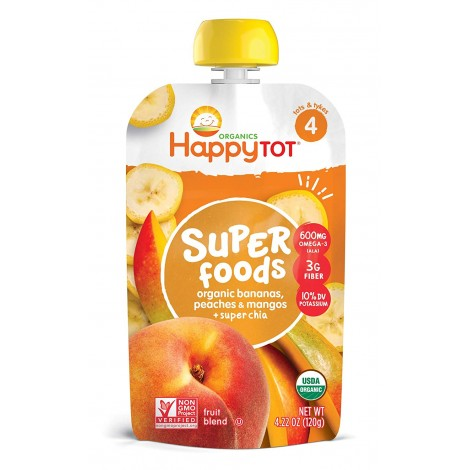 happy tot organic stage 4 super foods baby yogurt pouch