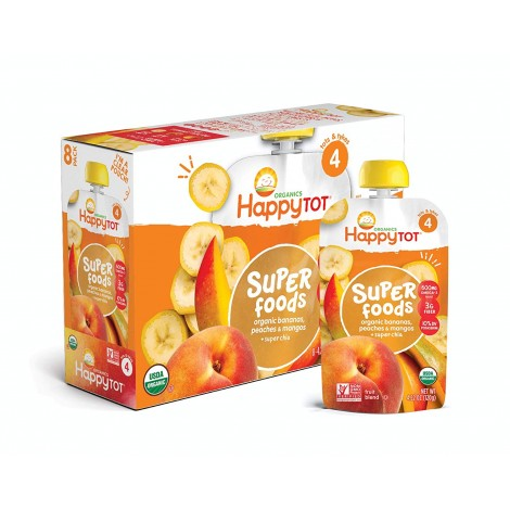 happy tot organic stage 4 super foods baby yogurt box