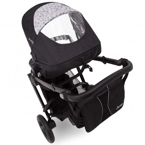 delta children all-terrain stroller back view