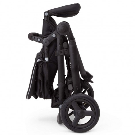 delta children all-terrain stroller folded