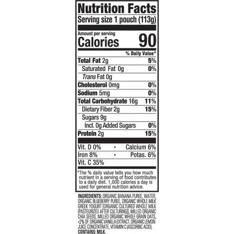 happy tot organic stage 4 super morning baby yogurt nutrition facts