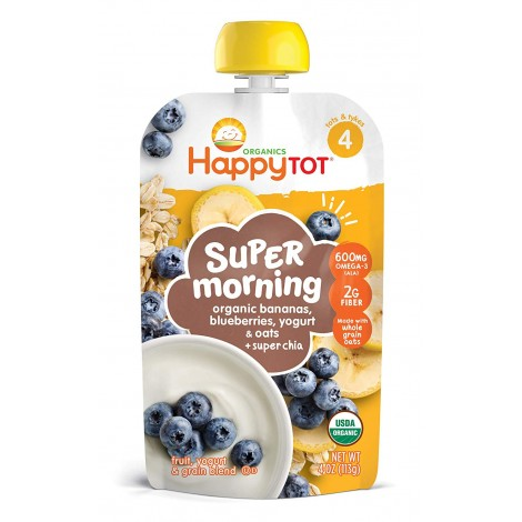 happy tot organic stage 4 super morning baby yogurt pouch