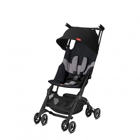 gb pockit+ velvet black all-terrain stroller