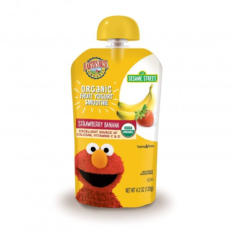 earth's best organic fruit baby yogurt pouch