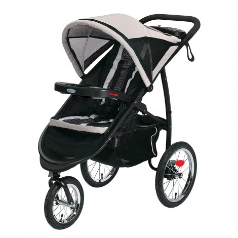 graco fastAction fold gotham all-terrain stroller side view