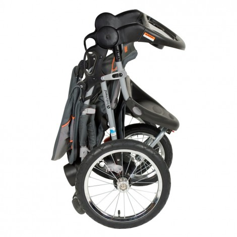 baby trend expedition vanguard all-terrain stroller folded