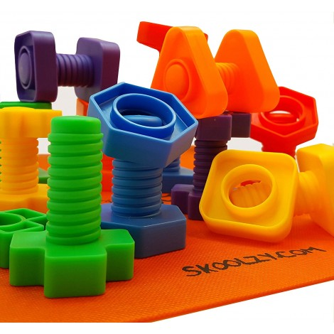 skoolzy nuts and bolts montessori toys pieces