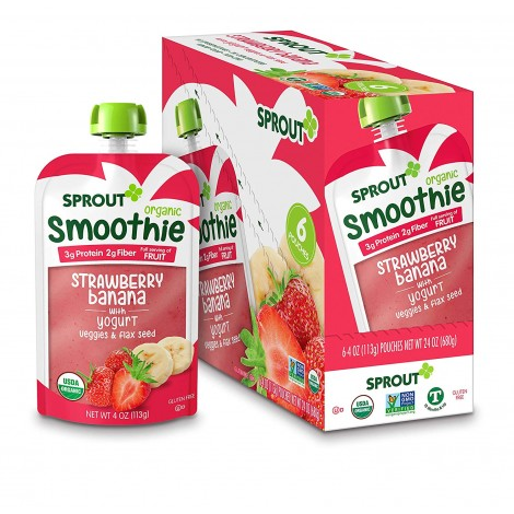 sprout organic toddler baby yogurt pouch