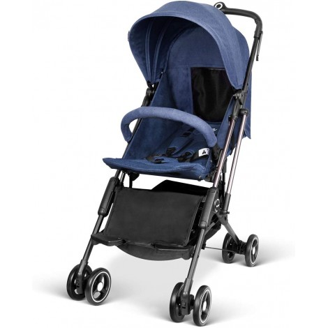 besrey airplane one step all-terrain stroller blue