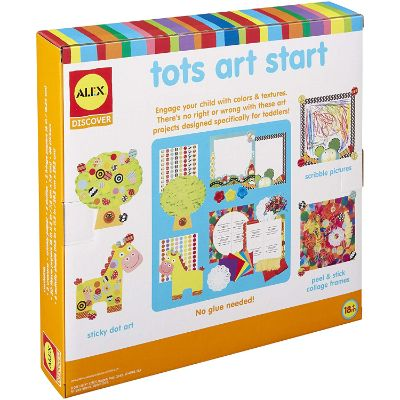 tots art start art and craft sets for kids box back