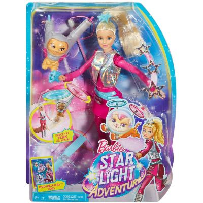 barbie galaxy doll flying toy box